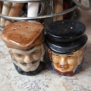 JAPAN TOBY CUP Salt and Pepper Shakers